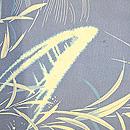 流水に蛇籠と笹、舟文様絽縮緬単衣羽織 質感・風合