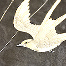 飛翔燕の図紗羽織 質感・風合