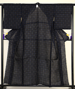 菊の花丸紋宮古上布