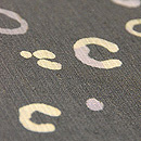 輪丸模様紗紬小紋 質感・風合