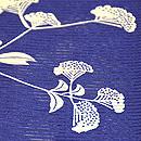 女郎花柄絽小紋 質感・風合