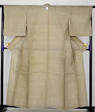 微塵格子の美麻織物