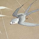 時雨に燕の絽小紋 質感・風合