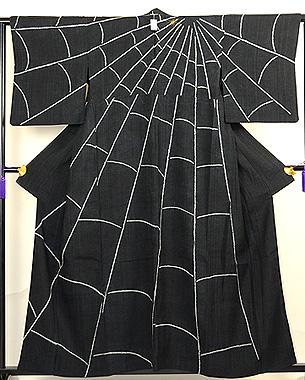蜘蛛の図訪問着