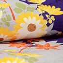 紫濃淡万寿、小菊と紅葉小紋 質感・風合