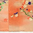 梅、笹、南天と菊祝い結び訪問着 上前