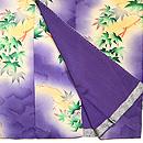 一つ紋紫ぼかし楓付下 上前