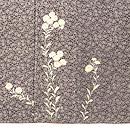 桜文江戸小紋袷小菊の裾模様 上前