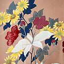 花々に山の実りの図羽織 質感・風合
