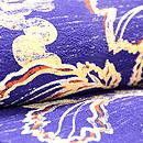 紺藍色葡萄模様縮緬羽織 質感・風合