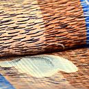 棒縞に蝶の小紋 質感・風合