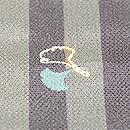 太縞に銀杏の小紋 質感・風合