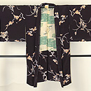 黒地に梅、菊の羽織 正面