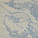 松原工房作 地白扇面に菊と藤中型 質感・風合