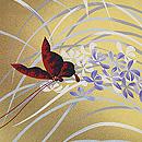 蘭に蝶々模様羽織 質感・風合