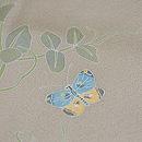 豆の花に紋白蝶付下訪問着 質感・風合