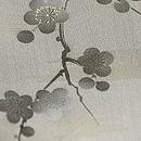 梅に枝垂れ笹錦紗縮緬小紋 質感・風合
