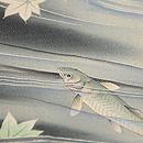 青紅葉に若鮎の単衣絵羽織 質感・風合