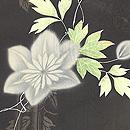 鉄線の図紋紗黒羽織 質感・風合