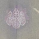 鉄線の図紋紗黒羽織 背紋