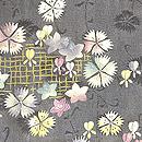 垣根から秋草の図単衣羽織 質感・風合