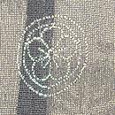 垣根から秋草の図単衣羽織 背紋