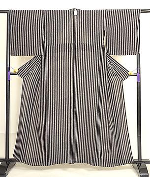 波紋縞単衣小紋