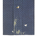 竹に雀刺繍縮緬江戸褄 上前