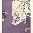 花車に蝶々単衣色留袖 上前