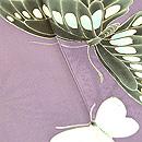 花車に蝶々単衣色留袖 質感・風合