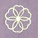 花車に蝶々単衣色留袖 背紋