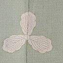 孔雀の羽根の単衣付下 背紋