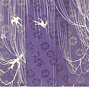 柳に燕の単衣小紋 上前