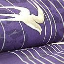 柳に燕の単衣小紋 質感・風合