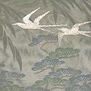 柳に燕の紗袷 質感・風合