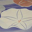 朝顔の花絽縮緬小紋 質感・風合