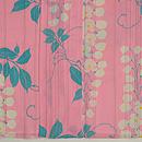 ピンク地に藤の花単衣小紋 上前