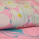ピンク地に藤の花単衣小紋 質感・風合