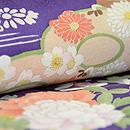 四季の花々模様菫色訪問着 質感・風合