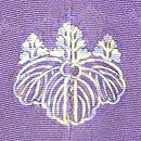 四季の花々模様菫色訪問着 背紋