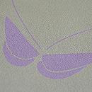 ジュサブロー作 蝶々文様縮緬小紋 質感・風合