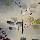 蛇籠に萩と撫子黒ぼかし錦紗単衣小紋 質感・風合
