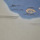 春の水辺風景図開き名古屋帯 前中心