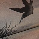 松に烏の図染名古屋帯 質感・風合