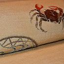 蟹柄刺繍名古屋帯 質感・風合