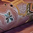 紫地扇面の図丸帯 質感・風合
