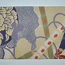春の花に篳篥の図名古屋帯 前中心