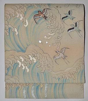波千鳥絽名古屋帯