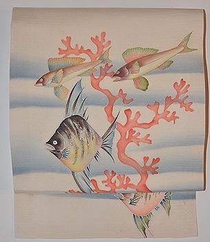 魚の名古屋帯