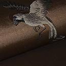 雀と稲穂織り名古屋帯 質感・風合